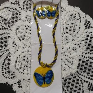 Womens Necklace & Earrings set